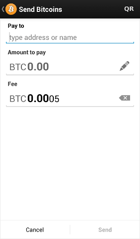 bitcoin mobile wallet send