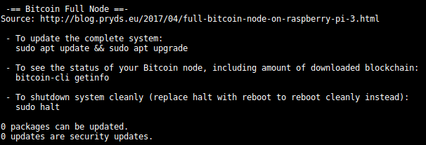bitcoin node on raspberry